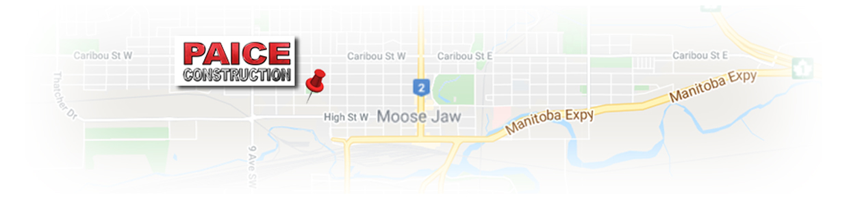 Map to find Paice Construction in Moose Jaw